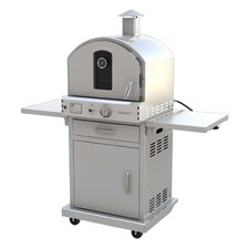"22.8"" Outdoor Pizza Oven Gas Grill with Cart"