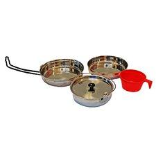 Alpine Mountain Gear 3 Piece Non-Stick Stainless Steel Cookware Set