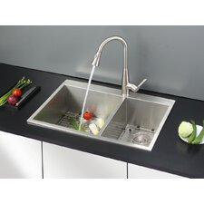 """33"""" x 22"""" Kitchen Sink with Faucet"""