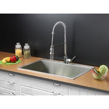 """33"""" x 21"""" Kitchen Sink with Faucet"""