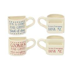 2 Piece Ceramic Pocket 10 Oz. Mug Set