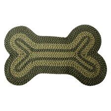 Lucky Dog Bone Braided Area Rug