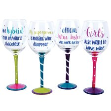 The Vineyard 4 Piece 18 oz. Wine Glass Set