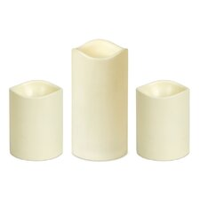 3 Peice Flameless Candle