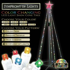 Light Show Cone Tree Christmas Decoration