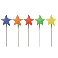 LED Light Show Star Pathmarkers Christmas Decoration (Set of 5)