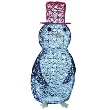 Spun Glitter 50 Light LED Penguin Wireframe Sculpture Christmas Decoration