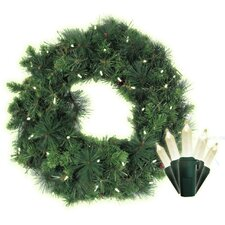 Traditional Mini 35 Light Anchorage Fir Lighted Wreath
