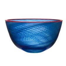Red Rim Decorative Bowl