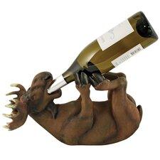 Mischievous Moose 1 Bottle Tabletop Wine Rack