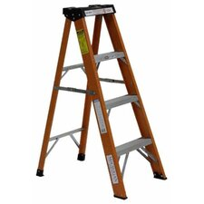 Industrial 5 ft Fiberglass Step Ladder with 250 lb. Load Capacity