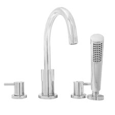 Signature Series Two Handle Deck Mount Roman Tub Filler Faucet with Hand Shower