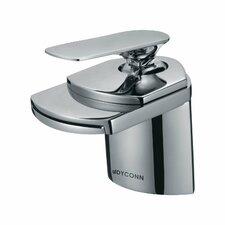 Crystal Single Handle Single Hole Bathroom Waterfall Faucet
