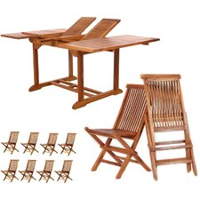 Pleasanton Extension 9 Piece Dining Set