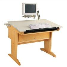 "Aided Design 42""W x 39""D Desktop Computer Table"