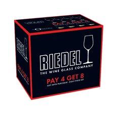 """Vinum 8 Piece Cabernet Sauvignon/Merlot (Bordeaux) + """"O"""" Viognier/Chardonnay Glass Set (Set of 8)"""