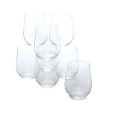 """O"" Viognier-Chardonnay White Wine Glass (Set of 8)"