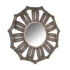 Company Antiqued Silver Lotus Mirror