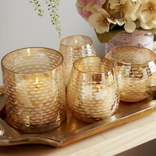 4 Light Gold Luster Garden Candle Holder