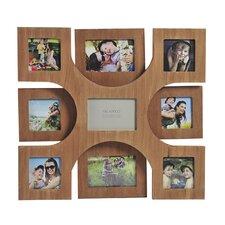 9-Opening Wood Veneer Collage Frame