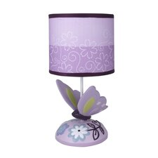 "Butterfly Lane 11"" H Table Lamp with Drum Shade"