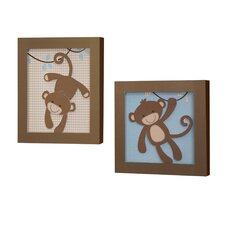 Giggles 2 Piece Decorative Wall Hanging Set