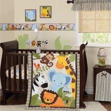 Jungle Buddies Flat Crib Sheet