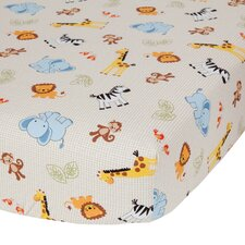 Jungle Buddies Flat Crib Sheet