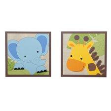 Jungle Buddies 2 Piece Decorative Wall Hanging Set