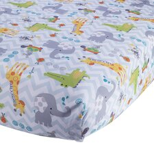 Yoo-Hoo Fitted Crib Sheet