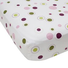 Raspberry Swirl Crib Fitted Sheet