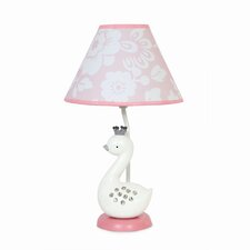 "Swan Lake 18"" H Table Lamp with Empire Shade"