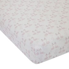 Swan Lake Fitted Crib Sheet
