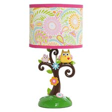 "Happi Tree By Dena 18"" H Table Lamp with Drum Shade"