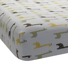 Giraffe Print Fitted Crib Sheet