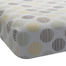 Giraffe Dot Fitted Crib Sheet