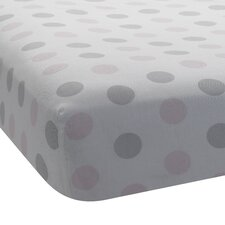 Bunny Dot Fitted Crib Sheet
