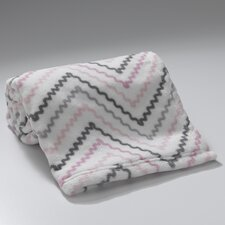 Bunny Chevron Coral Fleece Blanket