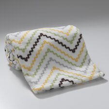 Giraffe Chevron Coral Fleece Blanket