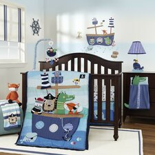 Little Pirates 4 Piece Crib Bedding Set