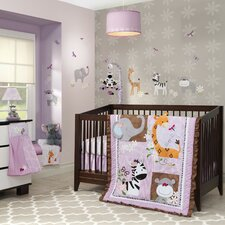 Ladybug Jungle 4 Piece Crib Bedding Set