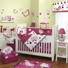 Raspberry Swirl 5 Piece Crib Bedding Set