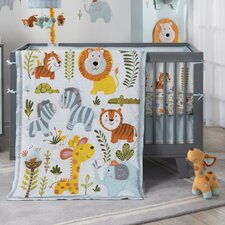 Dena Happi Jungle 4 Piece Crib Bedding Set