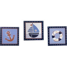 Sail Away Framed Art (Set of 3)