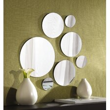7 Piece Round Mirror Set
