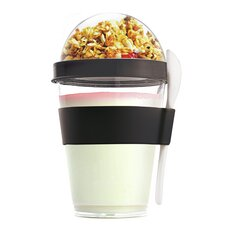 12 Oz. Yogurt Cup Storage Container with Spoon