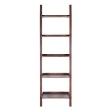"""Asterix Ladder Gables 82"""" Leaning Bookcase"""