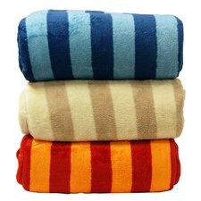 Luxury Printed Striped Plush Blanket