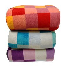 Luxury Printed Check Plush Blanket