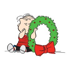 Peanuts Linus Wreath by Charles M. Schulz Painting Print on Wrapped Canvas